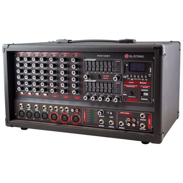MIXER AMPLIFIER COMBO BLASTKING I78-BPOD740BT 7CH POWERED POD740BT