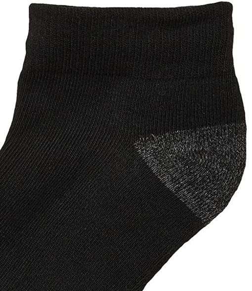 Men Socks Gildan Low cut Half Cushion Black 12 Pairs