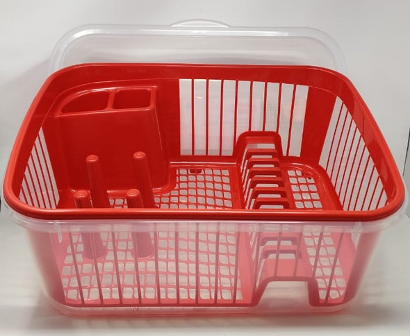 DISH RACK 1 LAYER POLINPLAST T0037500T WITH COVER PLASTIC