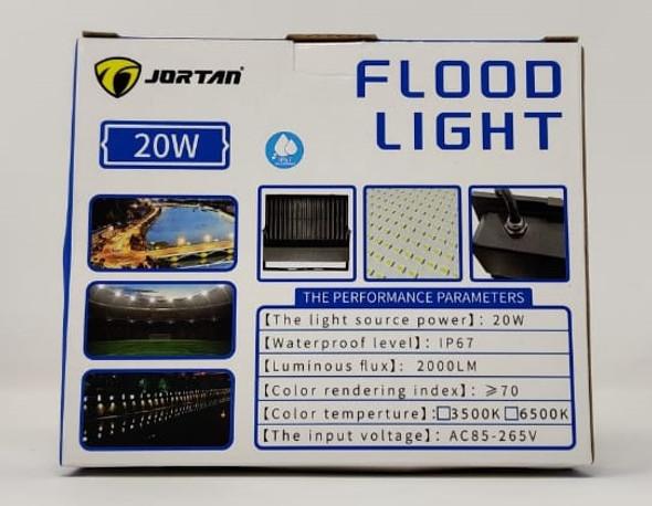 LAMP LED FLOOD 20W JORTAN MNTGD-TP20W IP67 85-265V 50/60HZ 6500K
