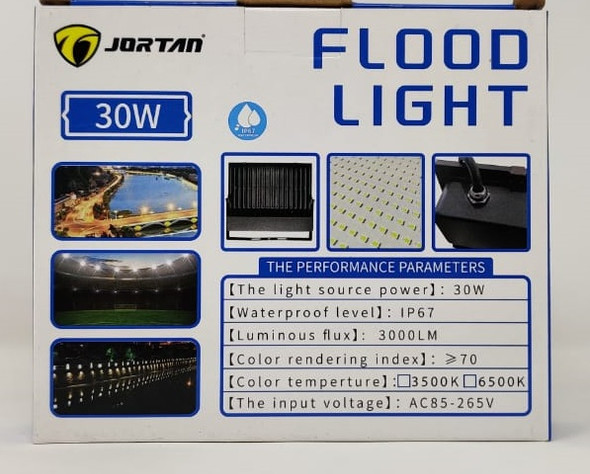 LAMP LED FLOOD 30W JORTAN MNTGD-TP30W IP67 85-265V 50/60HZ 6500K