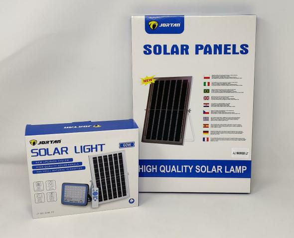 LAMP LED SOLAR FLOOD 60W JORTAN JT-BS-60W-TF + JT-BS60W-TY 6500K IP66