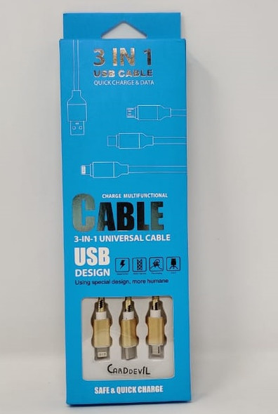 CABLE USB 3IN1 M-CBL-012-1.2M BLUE BOX