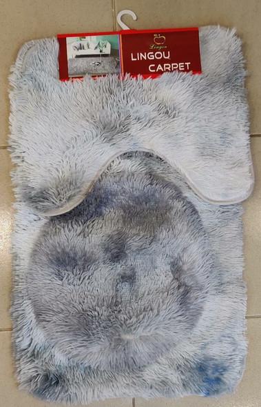 TOILET MAT 3PCS LINGOU CARPET 2007YY321-10 SHAGGY