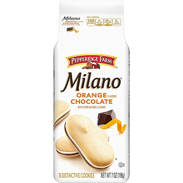 PEPPERIDGE FARM MILANO ORANGE CHOCOLATE 7oz 198g