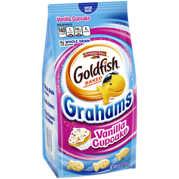 PEPPERIDGE FARM GOLDFISH GRAHAMS VANILLA CUPCAKE 6.6oz 187g