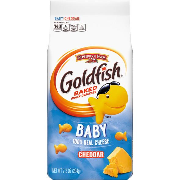 PEPPERIDGE FARM GOLDFISH BABY 100% REAL CHEESE CHEDDAR 7.2oz 204g