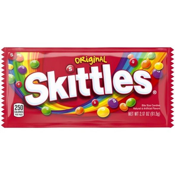 SKITTLES ORIGINAL CANDIES 2.17oz 61.5g