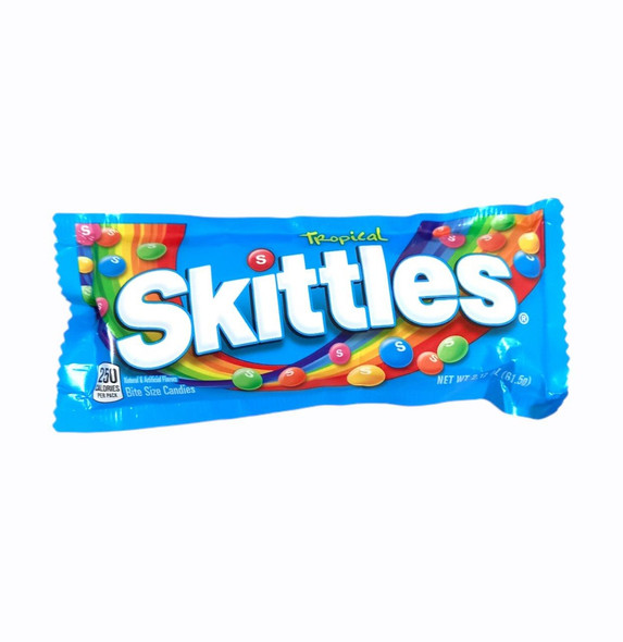SKITTLES TROPICAL CANDIES 2.17oz 61.5g