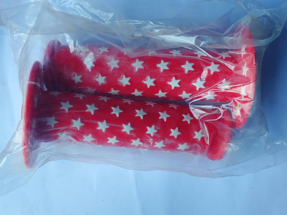 BICYCLE HANDLE GRIP STAR DESIGN RUBBER COLOUR