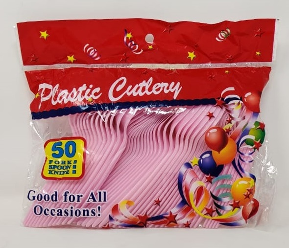 PARTY PLASTIC CUTLERY SPOON 50PCS PACK 31097
