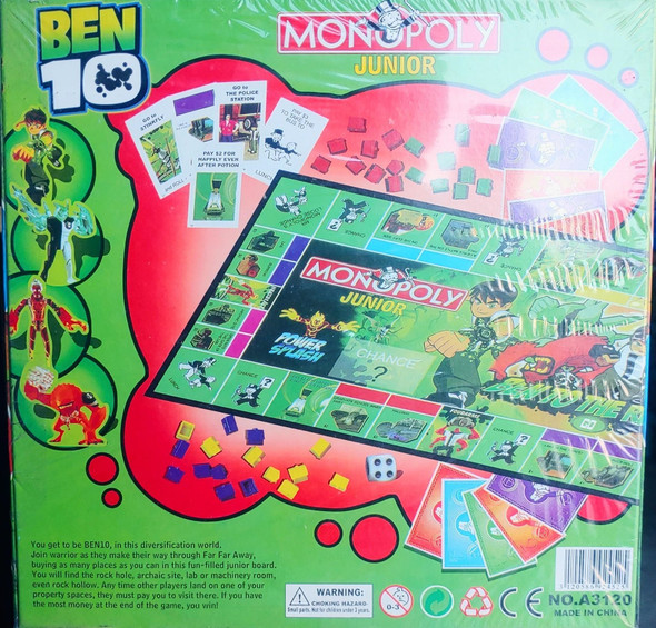 Toy Game Board Monopoly Junior Ben 10 A3120