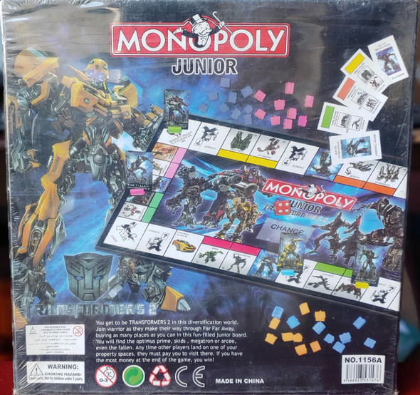 Toy Game Board Monopoly Junior Transformer 1156A
