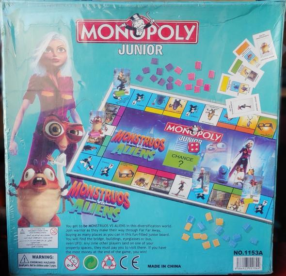 Toy Game Board Monopoly Junior Monstruos VS Aliens 1153A
