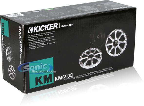 "SPEAKER CAR KICKER 6.5"" KM65002 W/HORN MARINE"