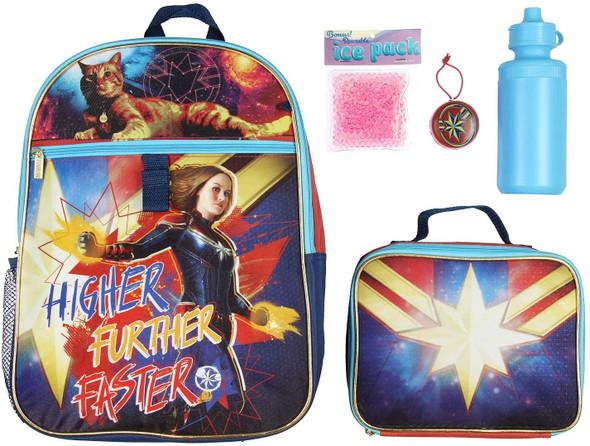 Backpack Lunchbag Set Captain Marvel