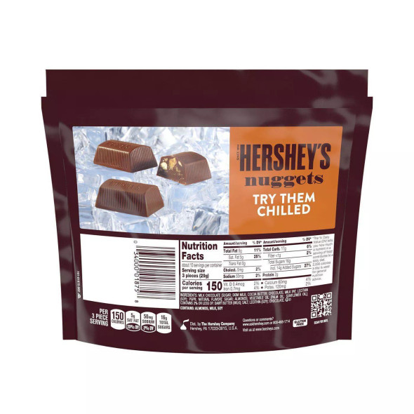 HERSHEY'S NUGGETS MILK CHOCOLATE WITH TOFFEE & ALMONGS 10.2oz 289g