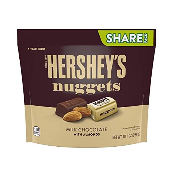 HERSHEY'S NUGGETS MILK CHOCOLATE WITH ALMONGS 10.2oz 286g