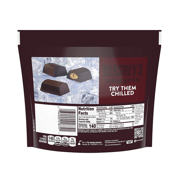 HERSHEY'S NUGGETS SPECIAL DARK MILDLY SWEET CHOCOLATE WITH ALMONGS 10.2oz 286g