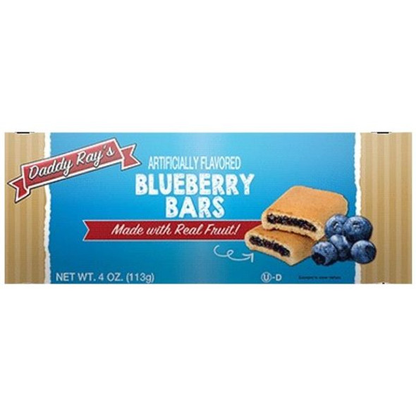 DADDY RAY'S BLUEBERRY BARS 4oz 113g