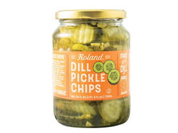 ROLAND DILL PICKLES CHIPS 24oz 709ml