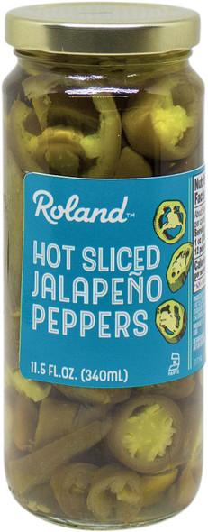 ROLAND SLICED HOT JALAPENO PEPPERS 11.5oz 340ml