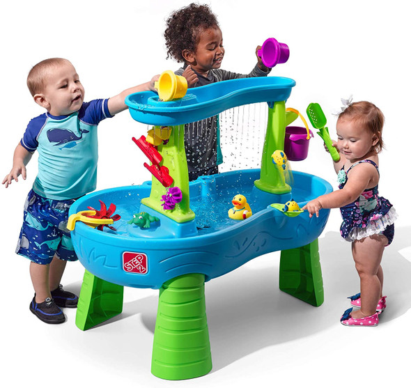 Toy Rain Showers Splash Pond Water Table  Step2 with 13-Pc Accessory Set