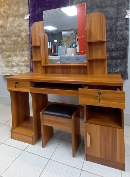 DRESSER WITH MIRROR & SEAT 624 (A)+B RED