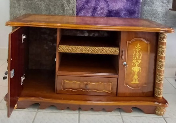 TV STAND WOOD WITH CUPBOARD 008-1