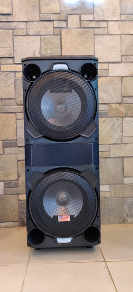 "SPEAKER BOX EMERALD 12"" DUAL WP1203 POWERED EACH"