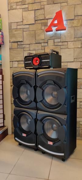 "SPEAKER BOX EMERALD 12"" DUAL AP1332 POWERED"