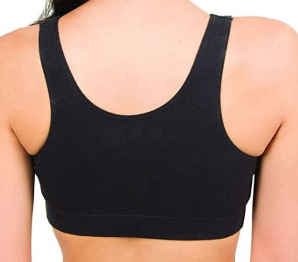 Women Sports Bra Fruit of the Loom Shirred Front  With Removable Pads 2pack