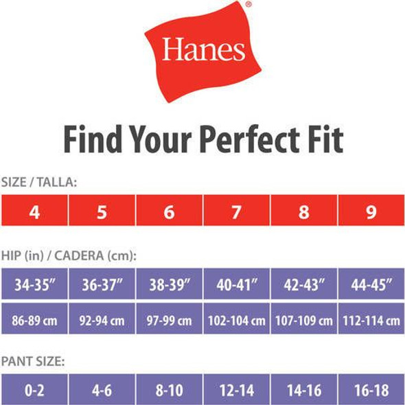 Women Underwear Hanes Hipsters 6pack Assorted colors