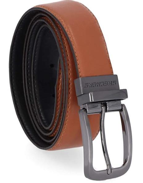 Men Belt Skechers Performance Reversible Cognac/Black