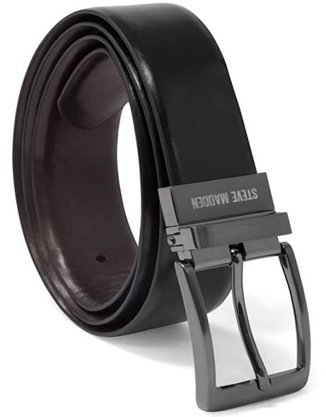Men Belt Steve Madden Reversible Black