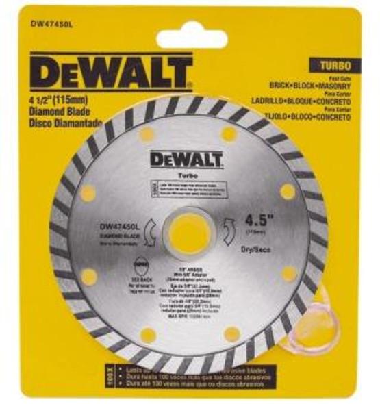 "DISC 4 1/2"" DIAMOND DEWALT DW47450L"
