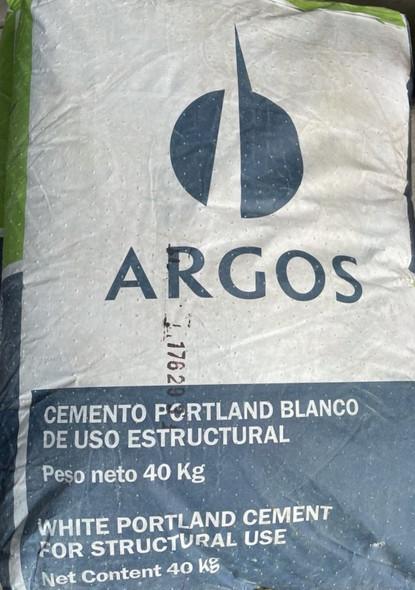 WHITE CEMENT ARGOS 88LBS SACK