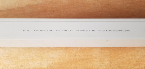TRUNKING 50MM X 100MM PVC 9.5FT NO BRAND