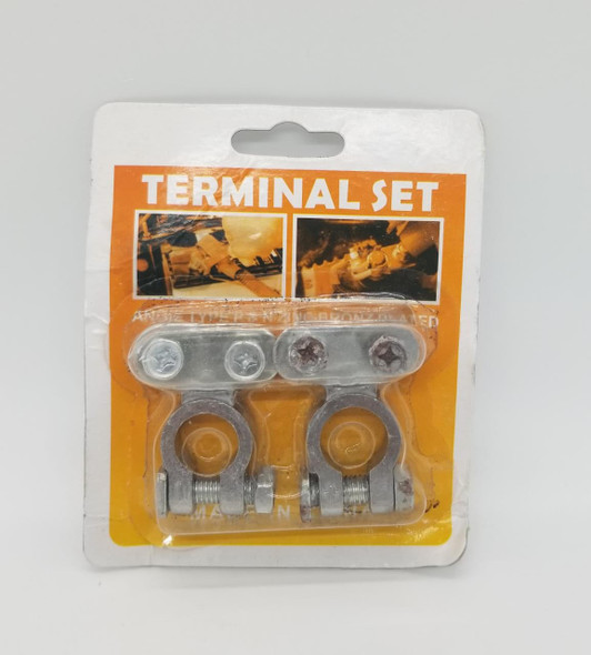 BATTERY TERMINAL SET CHROME IN PACK