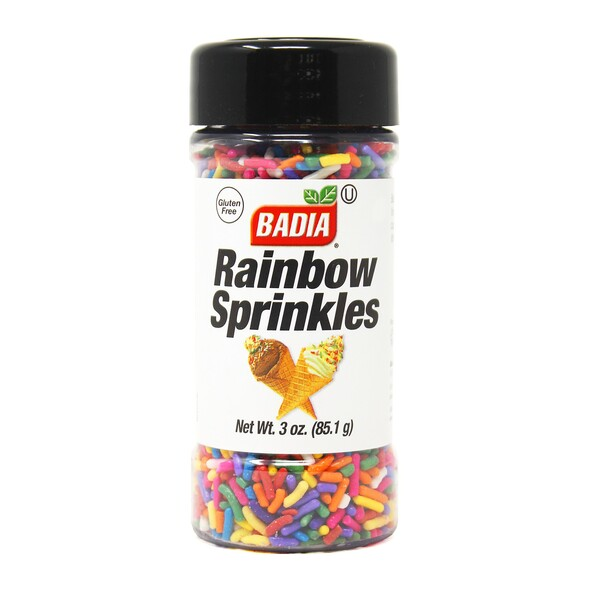 BADIA RAINBOW SPRINKLES 3oz 85.1g