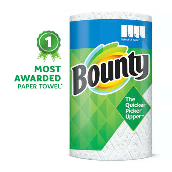 BOUNTY PAPER TOWELS 108 2-PLY SHEETS THE QUICKER PICKER UPPER