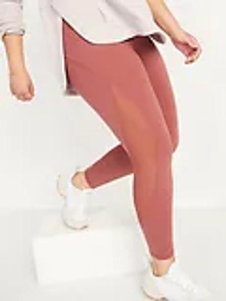 Women Leggings Old Navy Go Dry High Rise Elevate 7/8 Ankle Rose