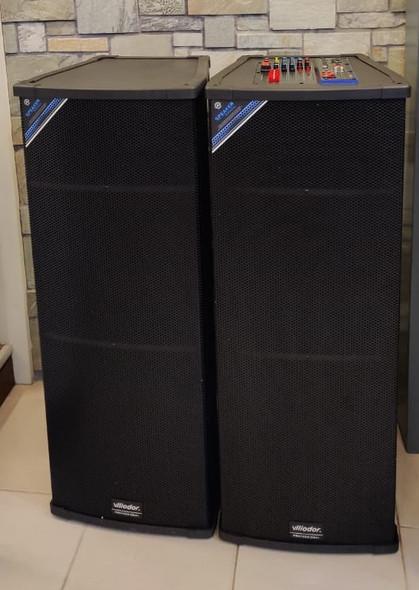 "SPEAKER BOX 15"" VLLIODOR DOUBLE DS-2065 POWERED PAIR"
