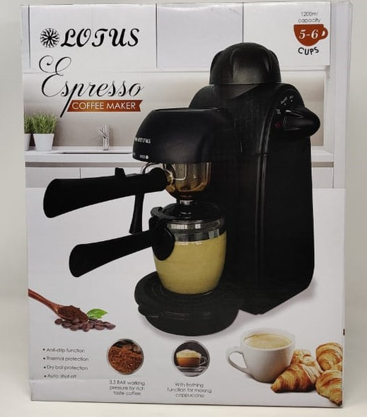 COFFEE MAKER LOTUS LT-996 ESPRESSO 5-6CUPS 1200ML