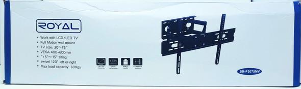 """TV WALL BRACKET 30""""-75"""" BR-P3075MV ROYAL FULL MOTION"""