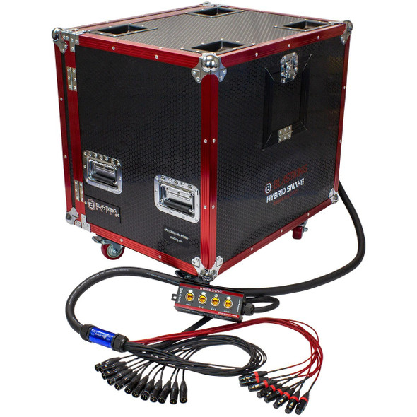 STAGE CABLE SNAKE HYBRID BLASTKING IBKE-SPS12X8X4-150 WITH CASE 150'