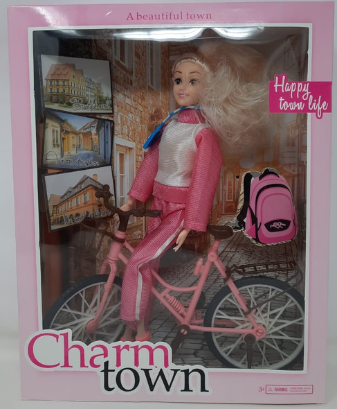 Toy Charm Town A Beautiful Town Bicycle Doll F-220