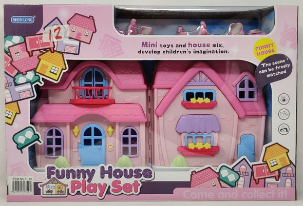 Toy Funny House Play Set Doll House Set F-59
