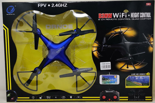 Toy D3HW Wifi Hight Control FPV Drone F6