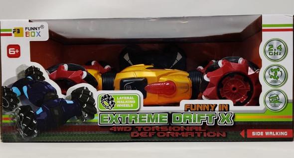 Toy Extreme Drift X 4WD Torsional Deformation Car Remote Control F-100 208037